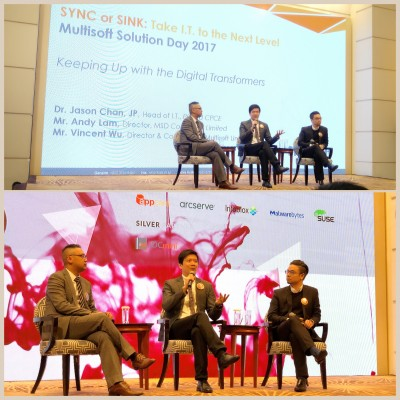 Served as panelist at Multisoft Solution Day 2017: Keeping Up with the Digital Transformers